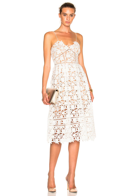 6e33d2c2809 Self-Portrait  Azaelea  Floral Lace Spaghetti Strap Dress In White ...