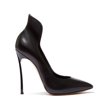 Casadei High Heel Leather Pump In Black