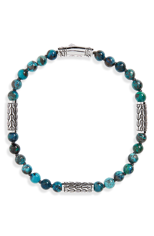 7c6719a71ad56a John Hardy Sterling Silver Classic Chain Station & Chrysocolla Bead  Bracelet, 5Mm In Crysocolla