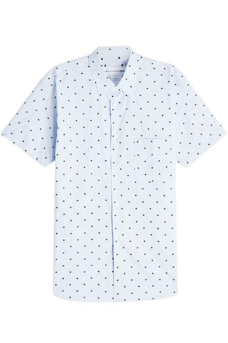 Comme Des GarÇOns Shirt Printed Cotton Shirt In Blue