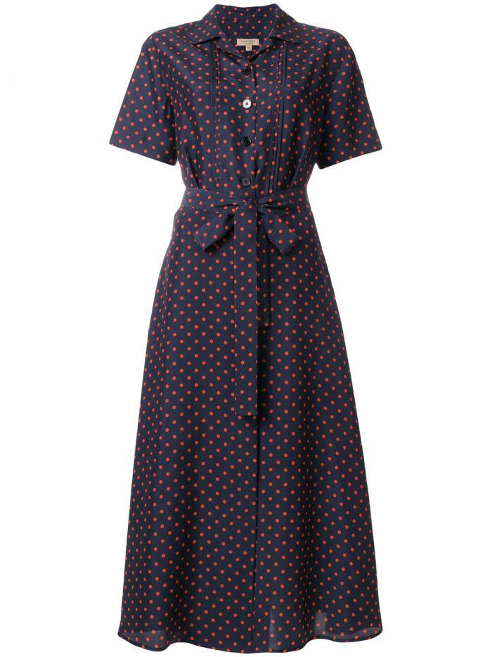 333c3b403 Burberry Navy Dress With Red Dots In Blue | ModeSens