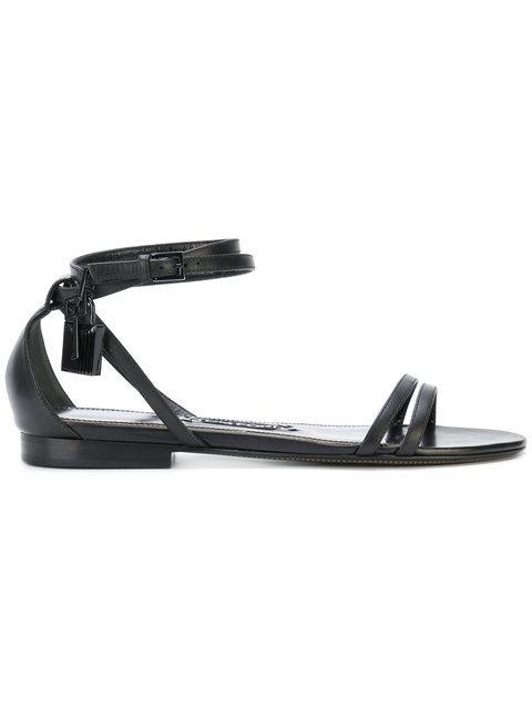Tom Ford Multi-strap Flat Sandals In Black
