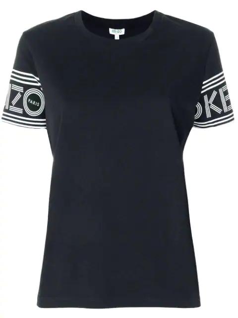 Kenzo Black Logo-Print Cotton T-Shirt