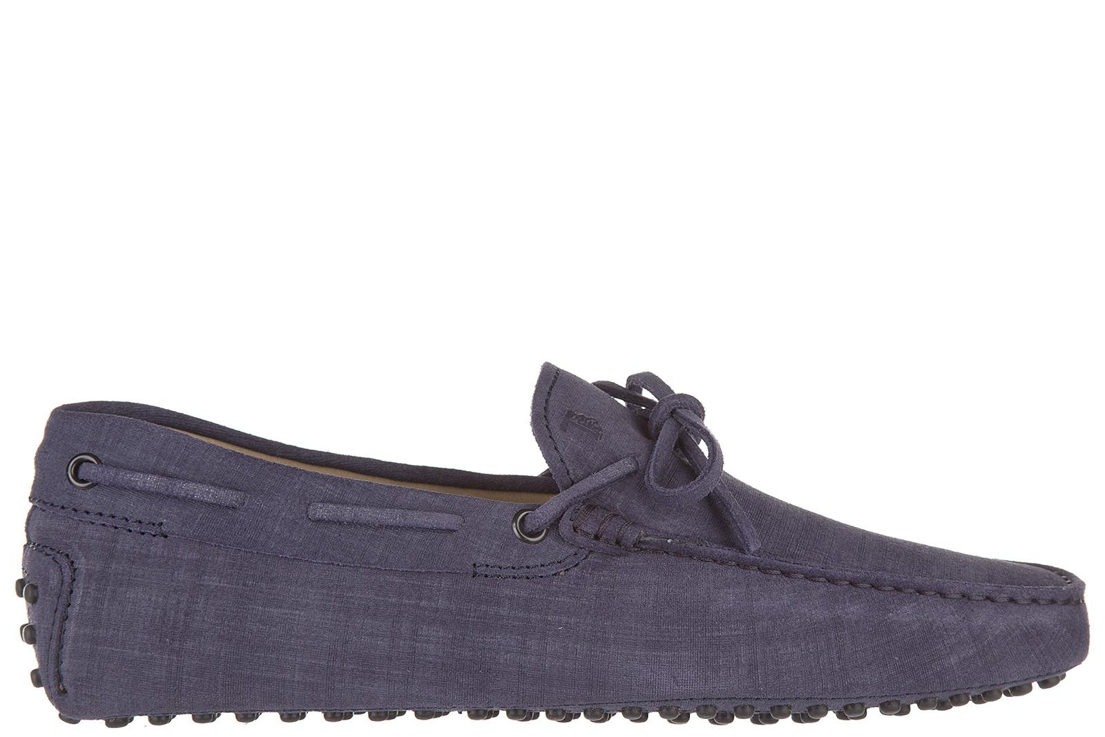 Tod's Men's Leather Loafers Moccasins  Laccetto New Gommini 122 In Purple