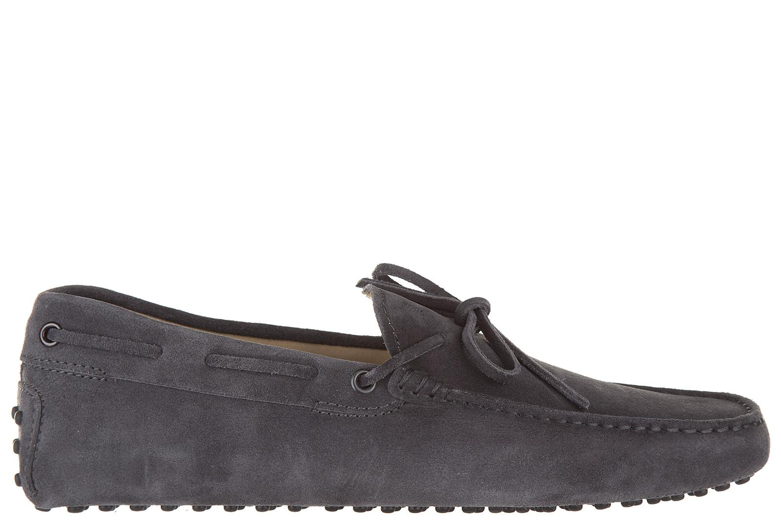 Tod's Men's Suede Loafers Moccasins Laccetto New Gommino 122 In Blue