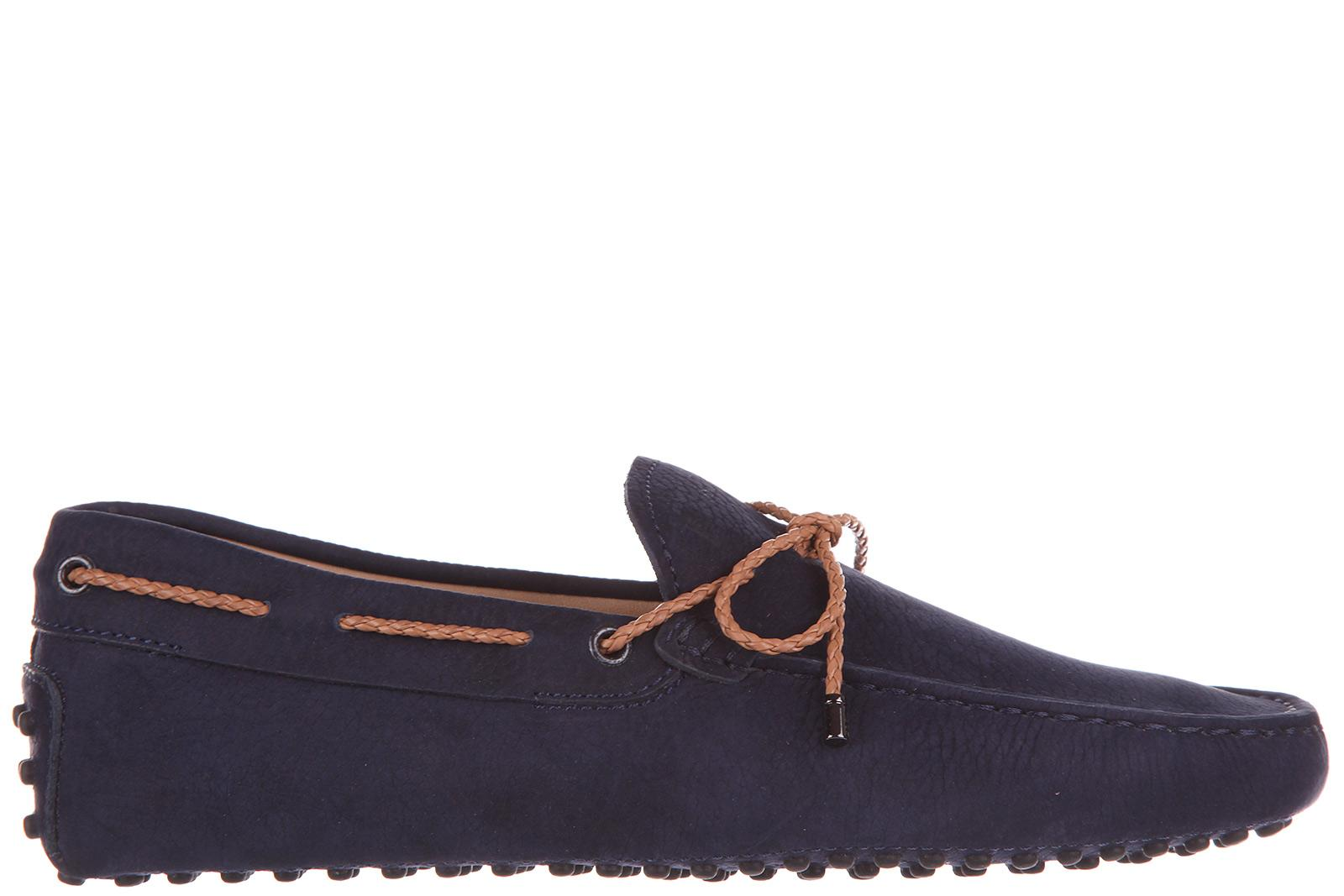 Tod's Men's Leather Loafers Moccasins  Gommino In Blue