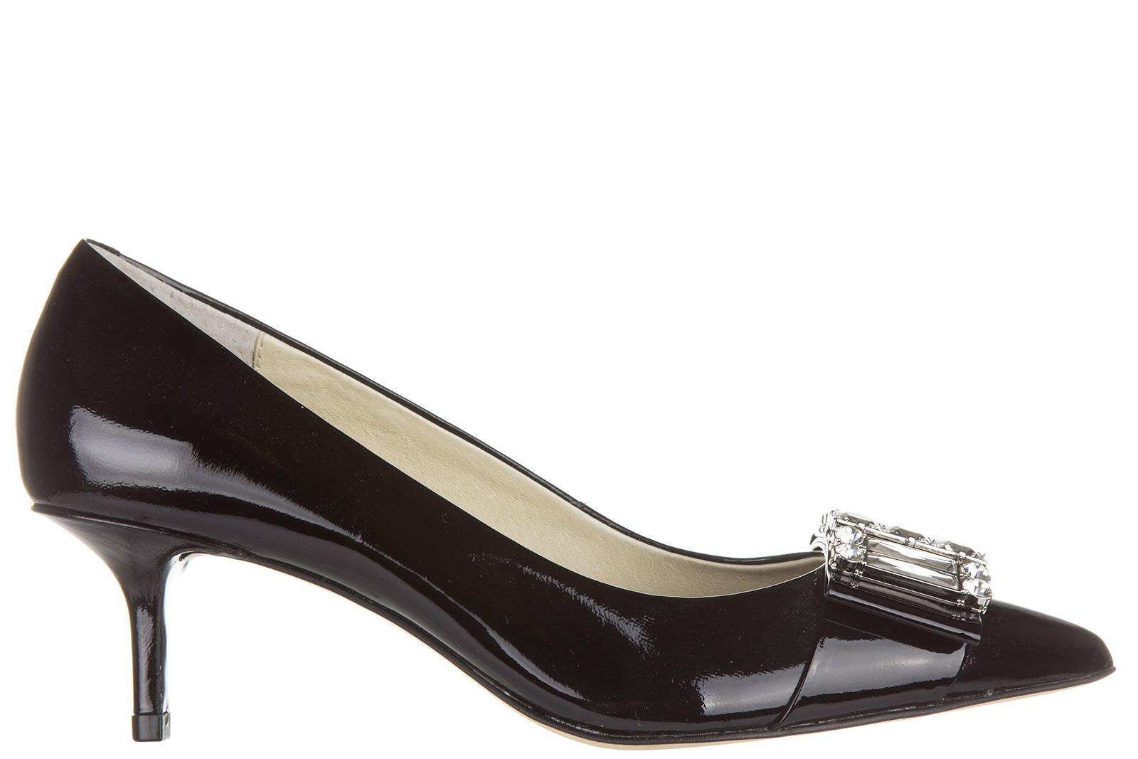 Michael Kors Women's Leather Pumps Court Shoes High Heel Michelle In Black