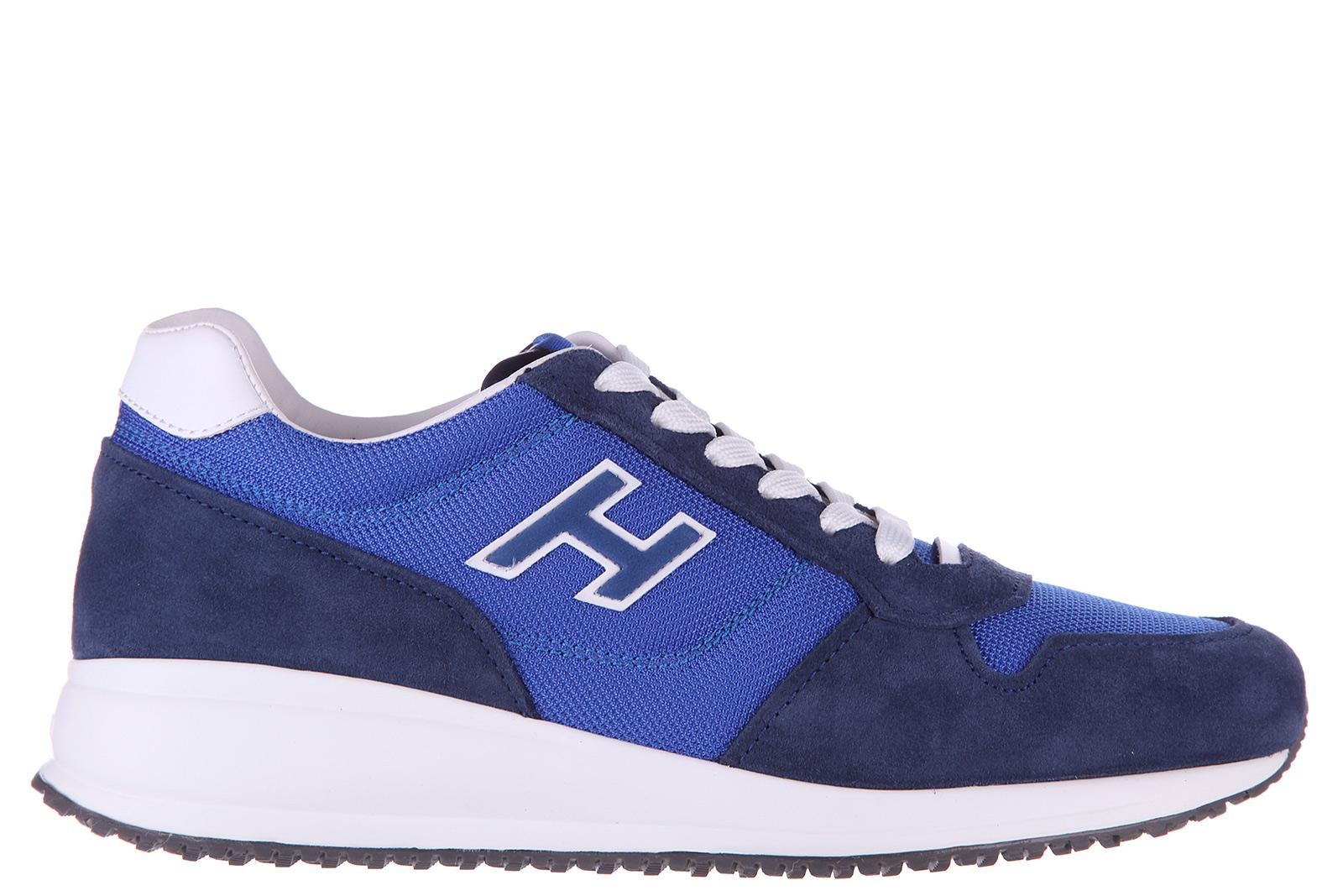 0e568914817c3 Hogan Men s Shoes Suede Trainers Sneakers Interactive N20 H Flock In Blue