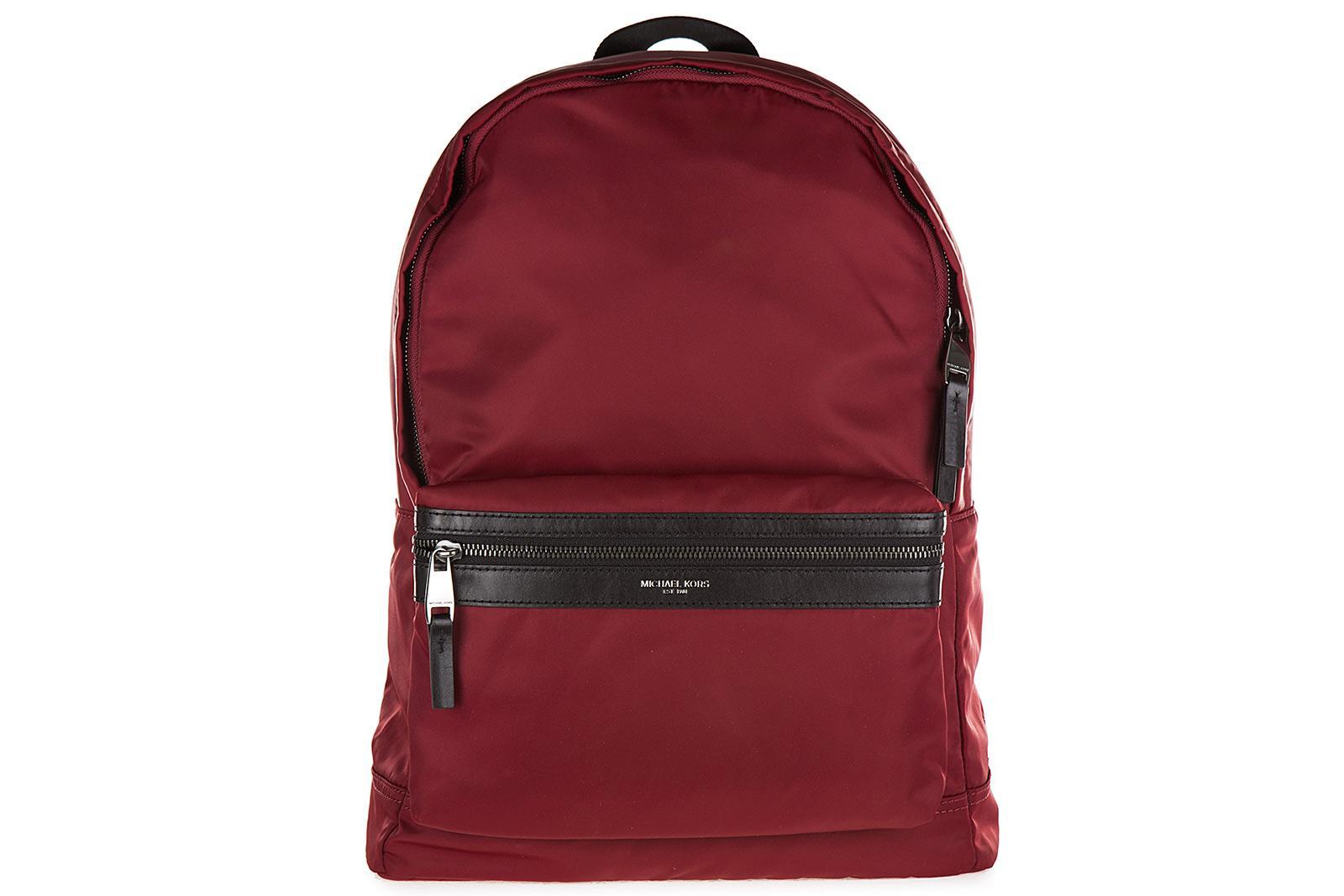 d666e012e39c Michael Kors Men's Nylon Rucksack Backpack Travel Kent In Red | ModeSens
