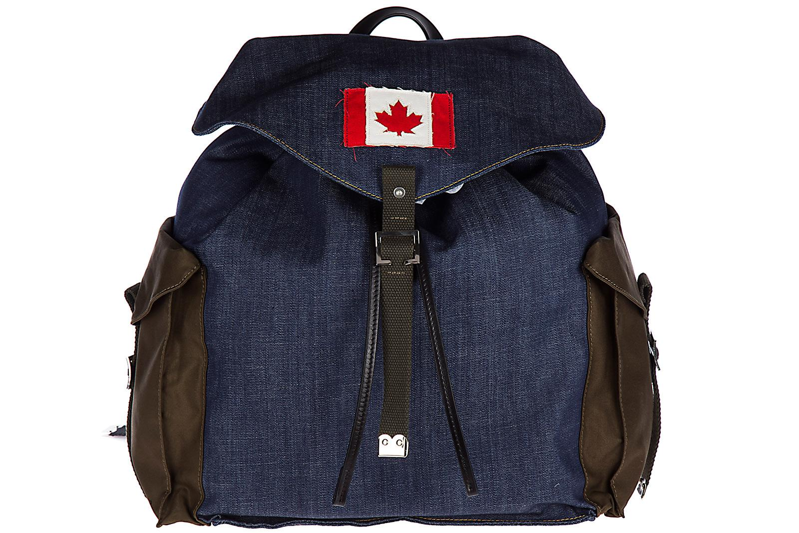 Dsquared2 Men's Rucksack Backpack Travel  Military Chic In Blue
