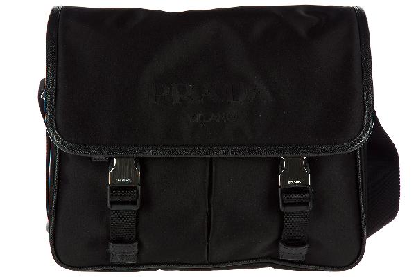 f41b3d431d0d Prada Men's Nylon Cross-Body Messenger Shoulder Bag In Black | ModeSens