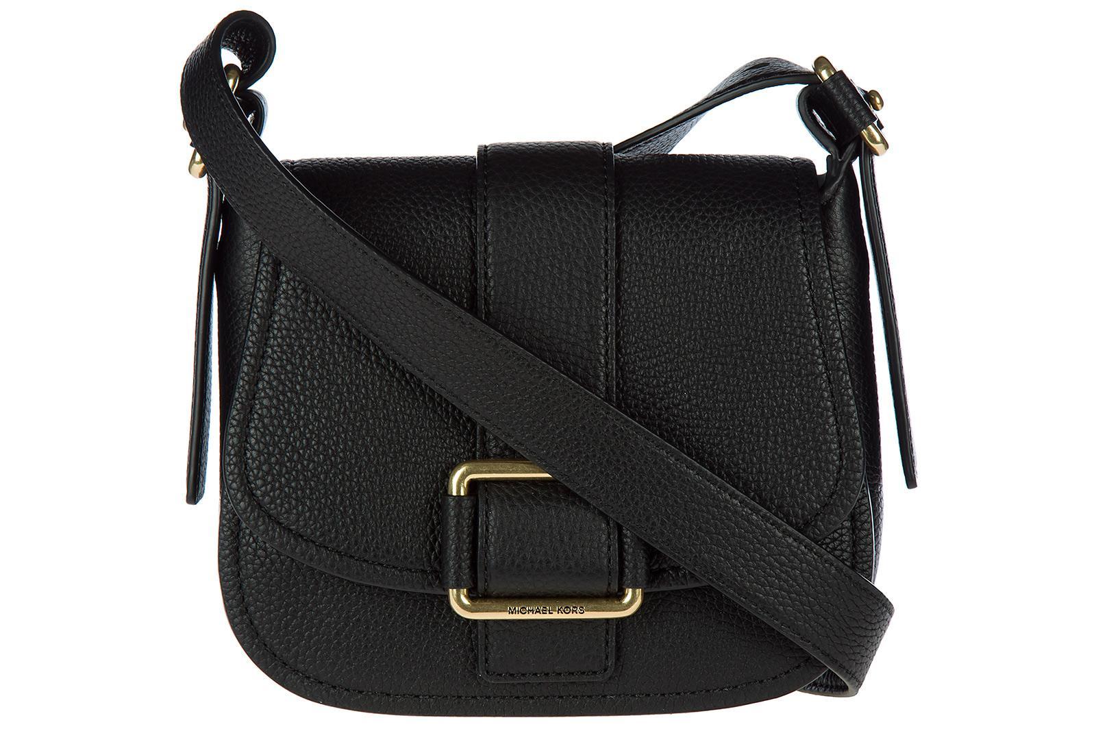 d61a101eb2296 Michael Kors UmhÄNgetasche Damen Tasche Schultertasche Messenger Leder  Maxine In Black