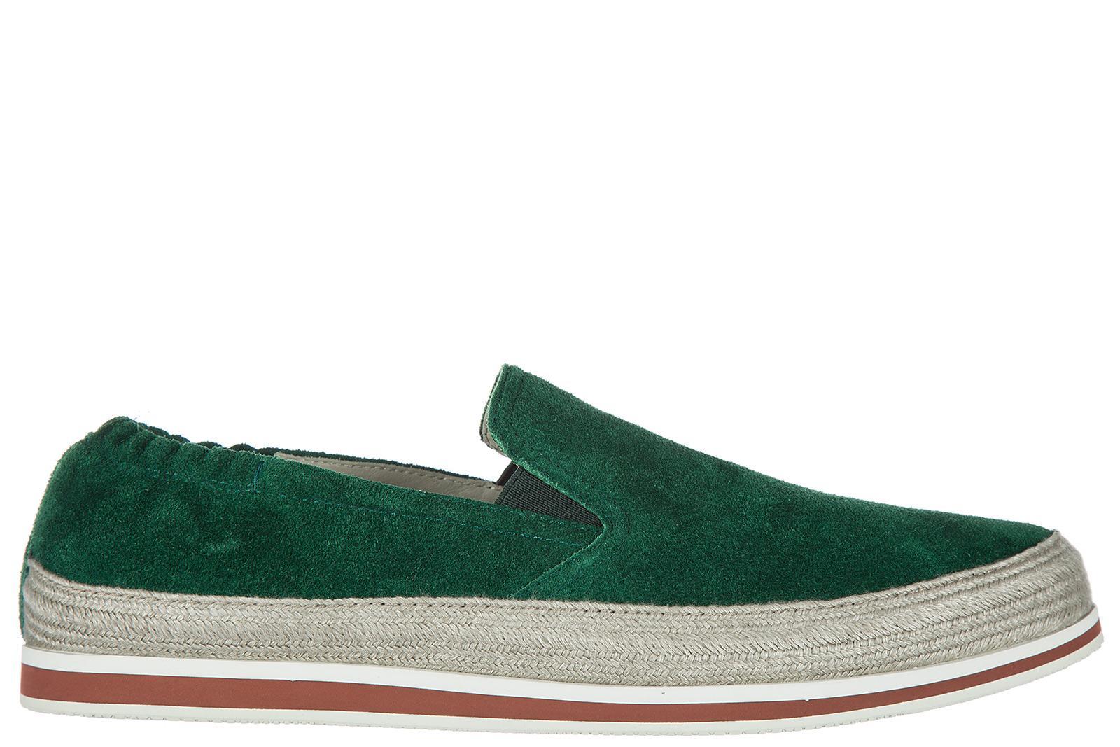 b6af30383311 Prada Men s Suede Slip On Sneakers In Green