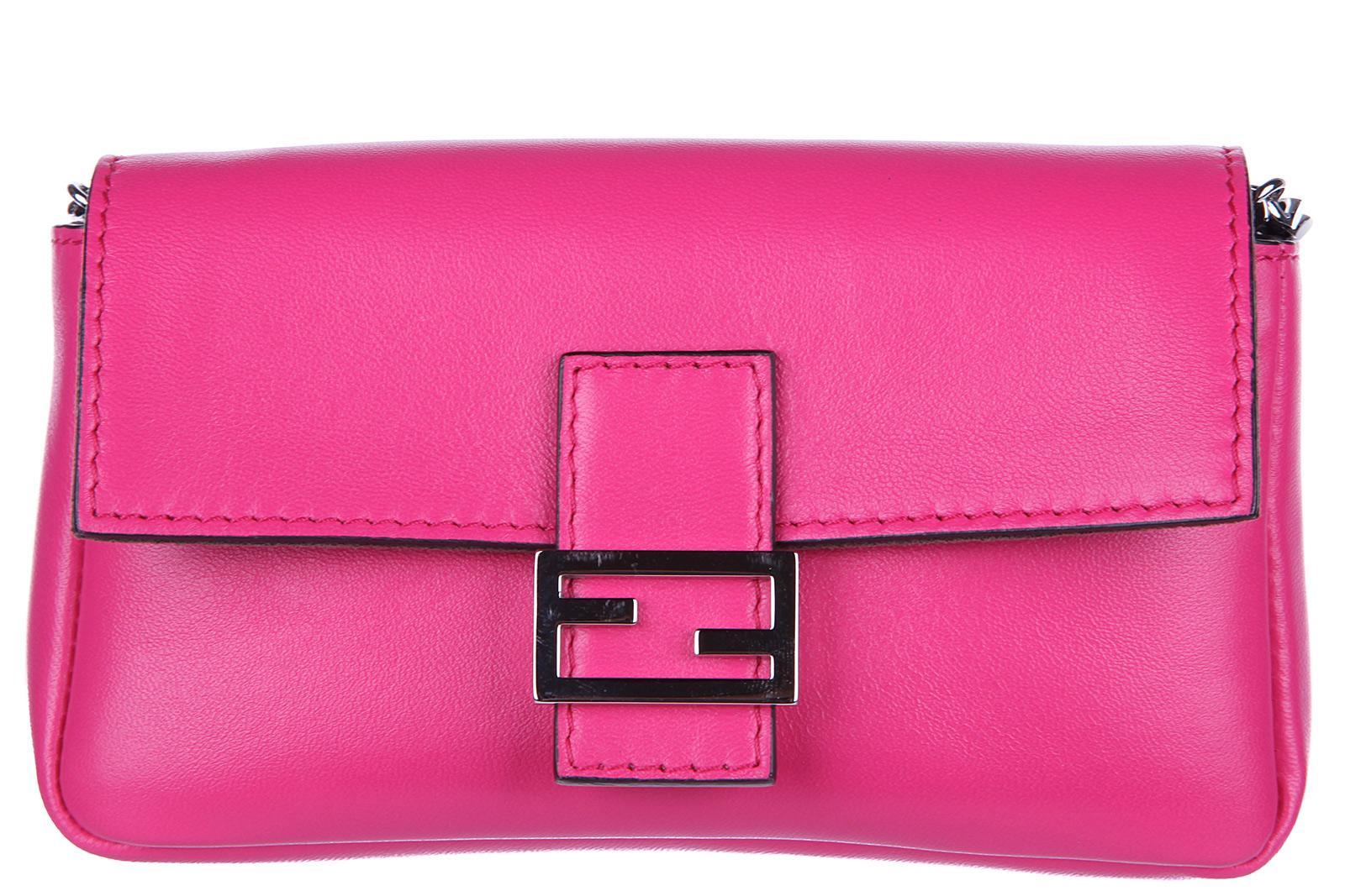 ff257da9d06e Fendi Women S Clutch With Shoulder Strap Handbag Bag Purse Micro Baguette  In Pink