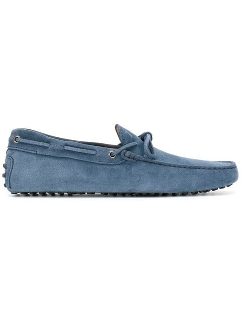 Tod's Men's Suede Loafers Moccasins Gommino In U827 Odissea