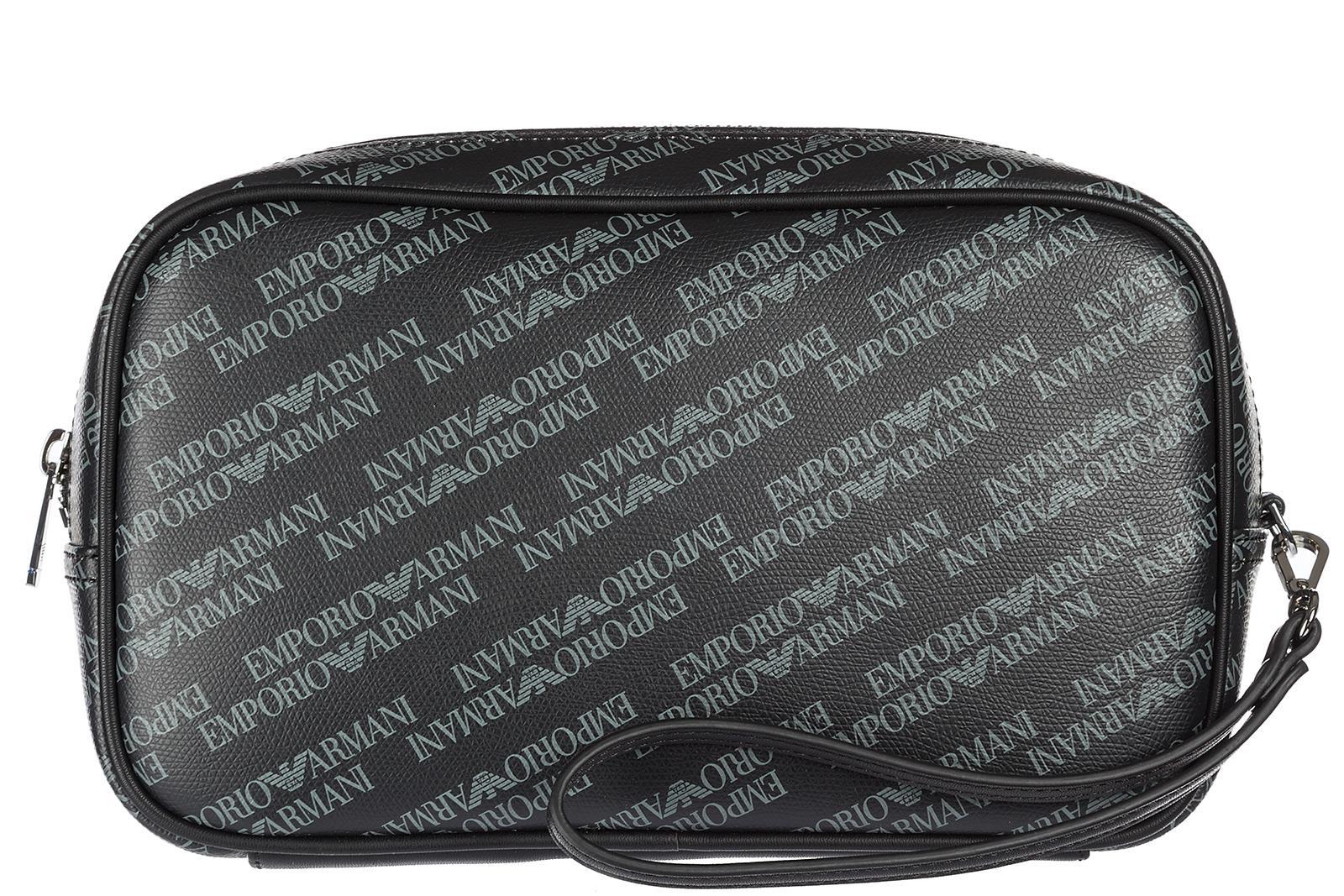 decb7c6cc1 Emporio Armani Men s Travel Toiletries Beauty Case Wash Bag In Black ...