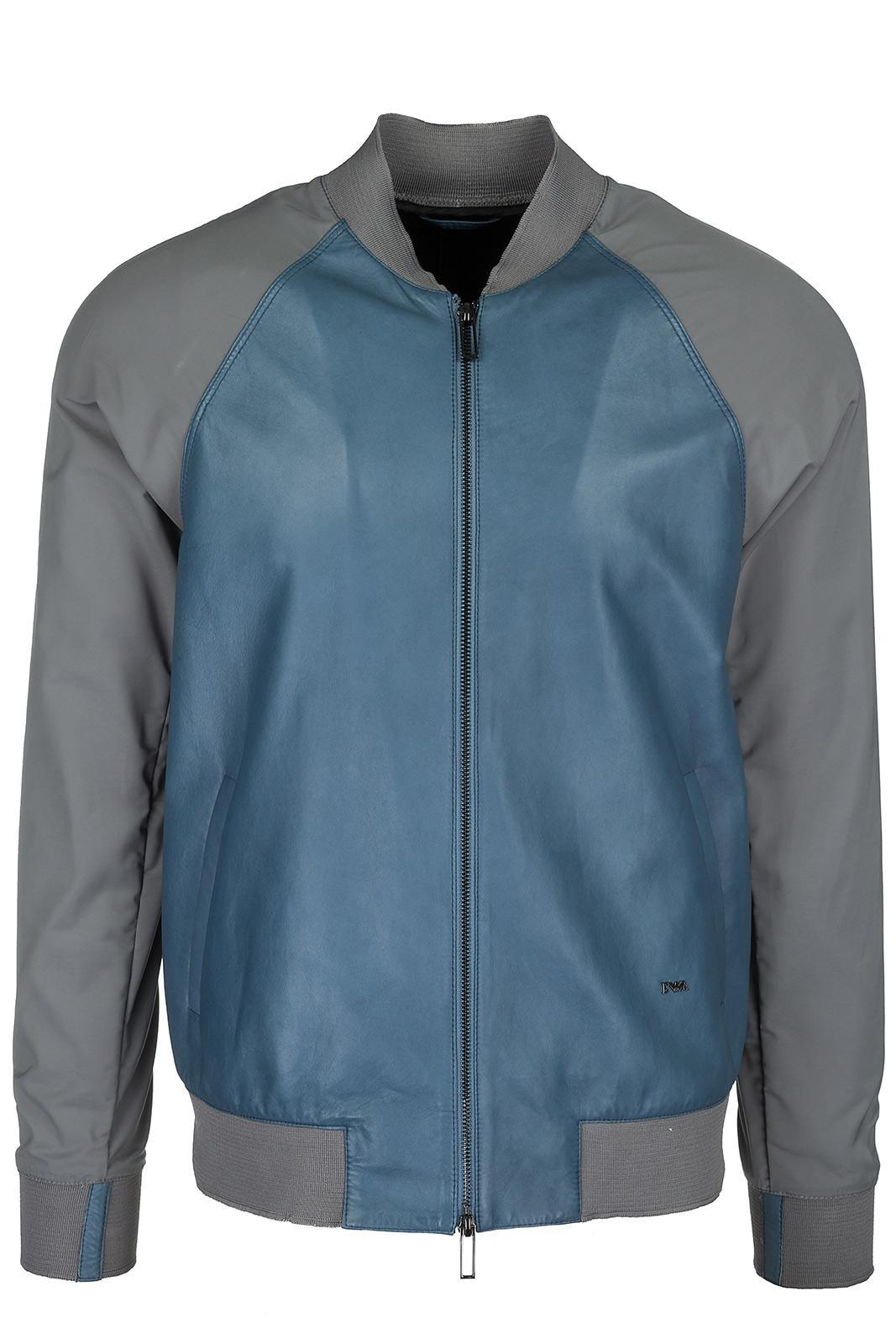 huge discount 720e7 e3b8b Herren Lederjacke Jacke Blouson Leder Herrenjacke in Blue