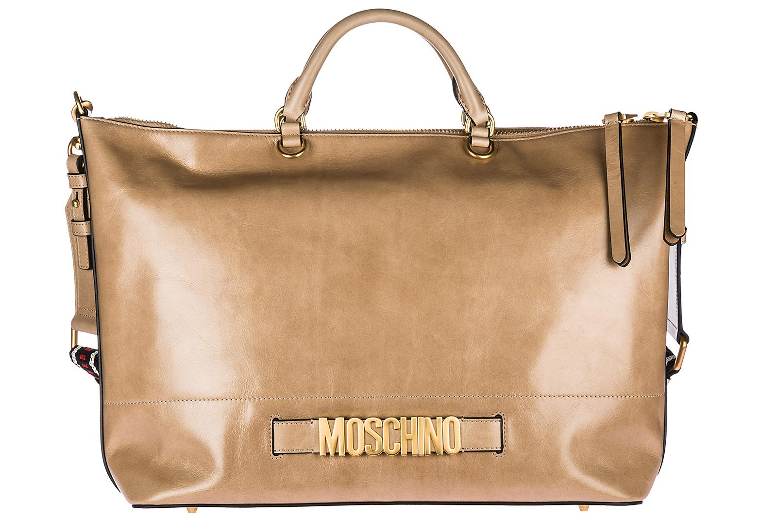Boutique Moschino Women's Handbag Shopping Bag Purse In In Pelle In Beige