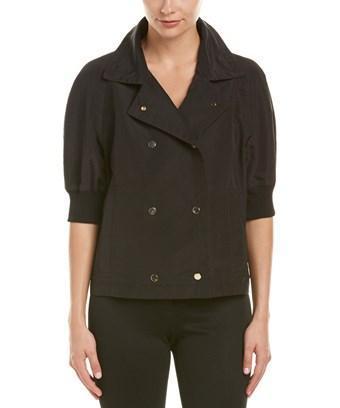 Escada Silk-Blend Jacket In Black