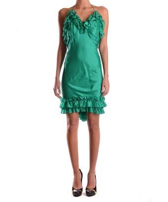 Dsquared2 Women's  Green Silk Dress