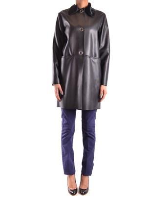 Pinko Women's  Black Acrylic Coat