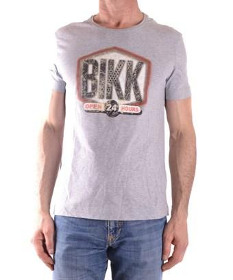 Bikkembergs Men's  Grey Cotton T-Shirt