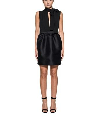 Dsquared2 Black Wool And Silk Dress