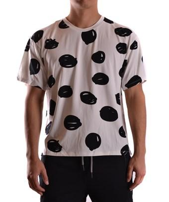 Jeremy Scott Men's  White/Black Silk T-Shirt