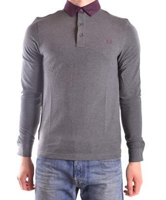 Fred Perry Men's  Grey Cotton Polo Shirt