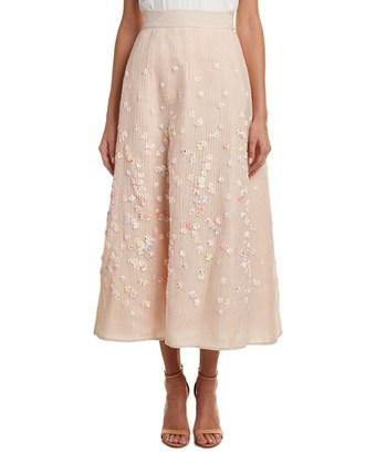 Escada Silk-Blend Skirt In A680 Nude