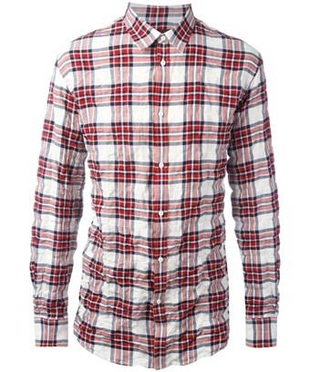 Dsquared2 Men's  White/Red Cotton Shirt