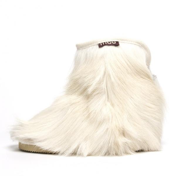 Mou Goatskin Cowboy Ankle In White