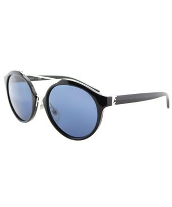 Tory Burch Ty9048 139080 Black Silver Round Sunglasses In Black  Silver