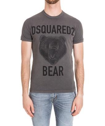 Dsquared2 Men's  Grey Cotton T-Shirt