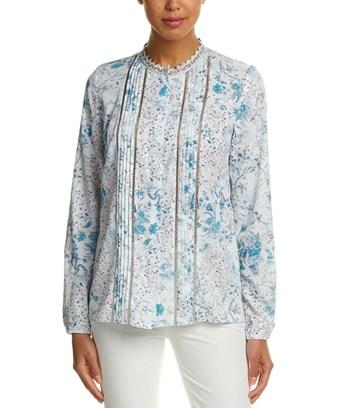 T Tahari Top In Light Blue