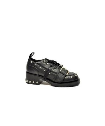N°21 Women's  Black Leather Lace-Up Shoes