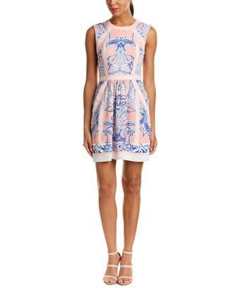Bcbgmaxazria Donatella Mini Dress In Blush