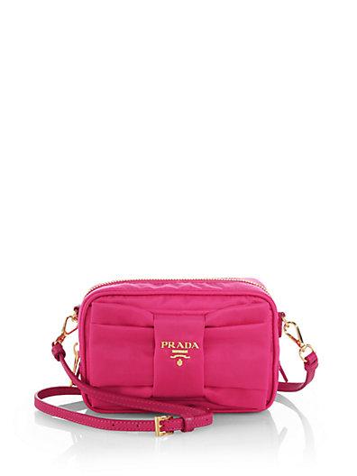 bfba05c47cab Prada Tessuto Nylon Bow Crossbody Bag In Fuchsia | ModeSens