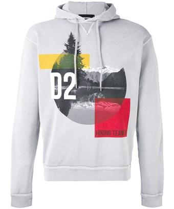 Dsquared2 Men's  Grey Cotton Sweatshirt