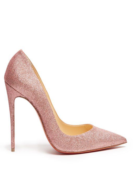 7f43f8f03e Christian Louboutin Pigalle Follies 85 Glitter-Embellished Pumps In Pink