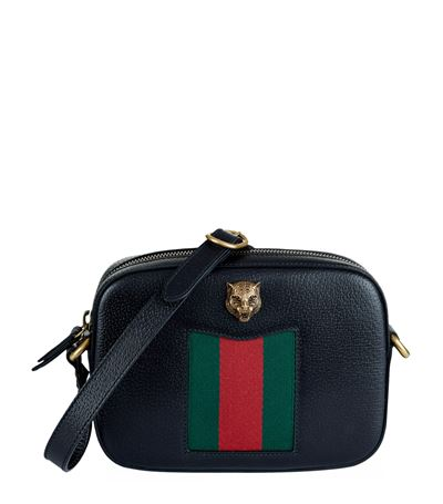 98d08bbd8652 Gucci Animalier Leather Camera Bag In Black | ModeSens