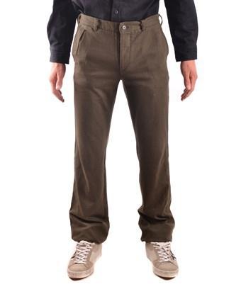 Yohji Yamamoto Men's  Green Cotton Pants