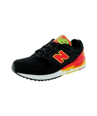 New Balance Men's 90S Running 530 Classics Running Shoe In Black With Red & Yellow