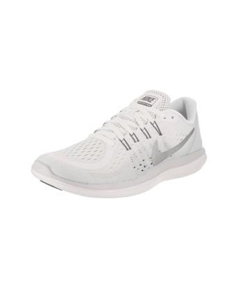 innovative design ee272 8ffa6 Nike Women s Flex 2017 Rn Running Shoe In White Metallic Silver
