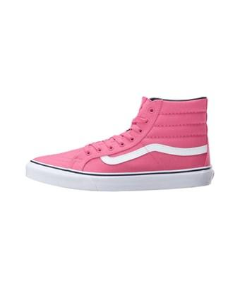 155a1b52b394 Vans Womens Sk8 Hi Slim Low Top Lace Up Fashion Sneaker In Pink ...