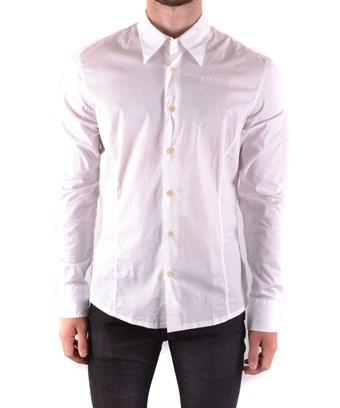 Bikkembergs Men's  White Cotton Shirt