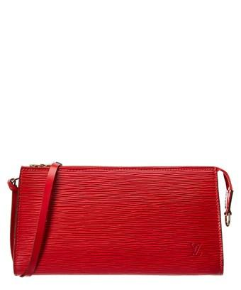 Louis Vuitton Red Epi Leather Pochette Accessoires In Red Multi