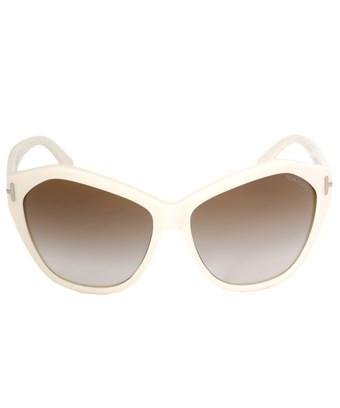 Tom Ford Angelina Sunglasses Ft0317 25G | Ivory Frame | Brown Gradient Lens