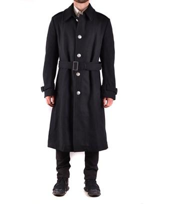Yohji Yamamoto Men's  Black Wool Coat