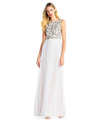 fc3e687fd94 Adrianna Papell Plus Size Embellished Gown In Ivory Multi